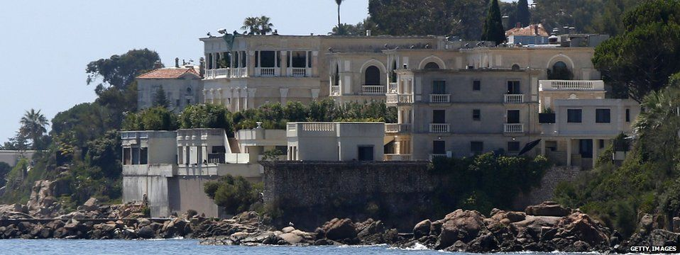 A picture shows the villa of the Saudi king in Vallauris Golfe-Juan, south eastern France, on 26 July 2015