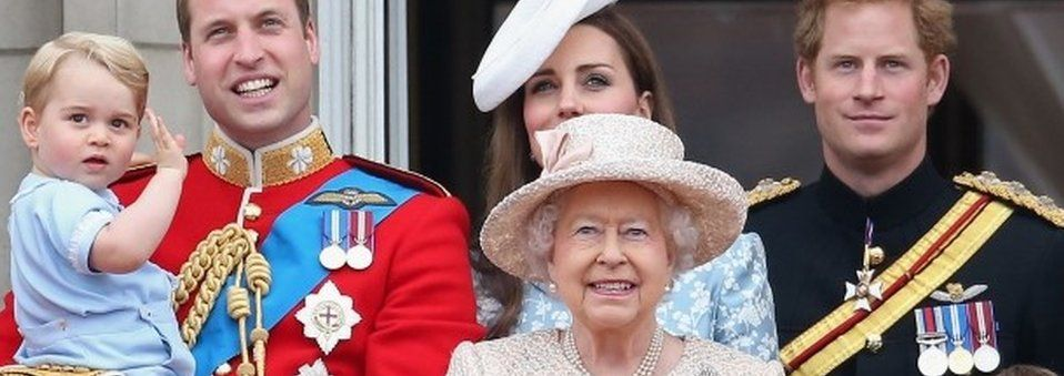 The Queen and other members of the royal family
