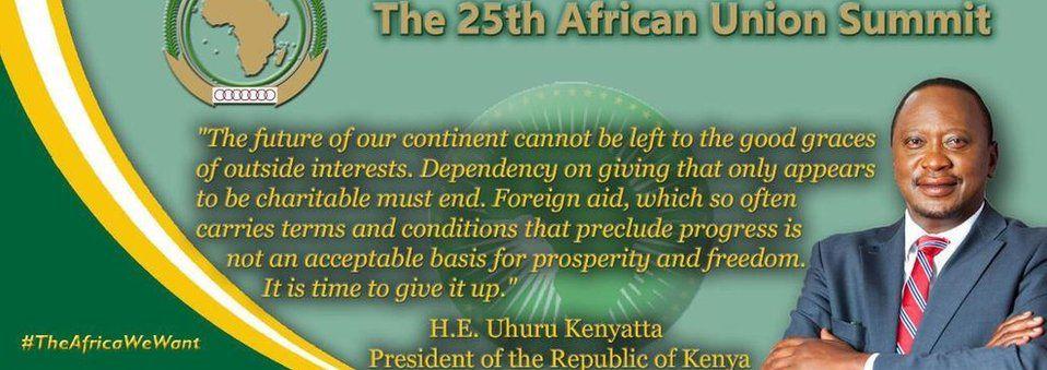 Graphic from Kenya's President Uhuru Kenyatta twitter feed