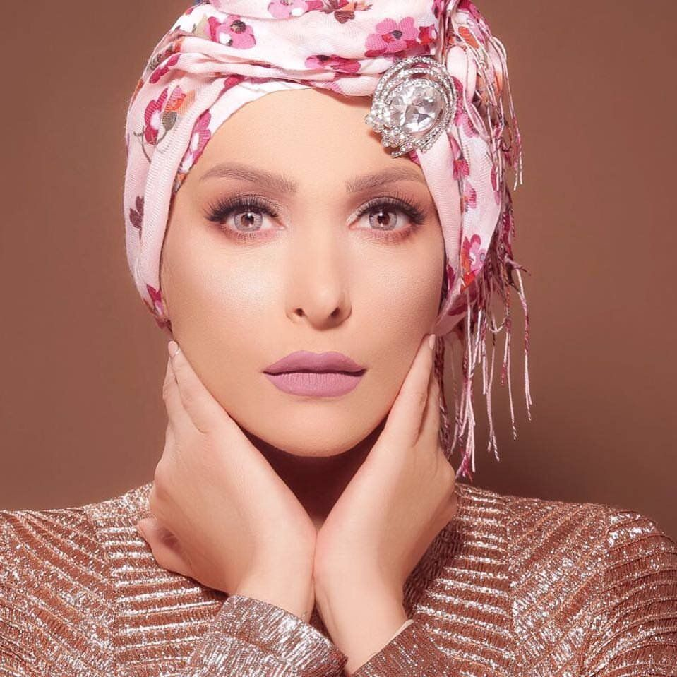 Photo of Amal Hijazi wearing the headscarf on her Facebook account