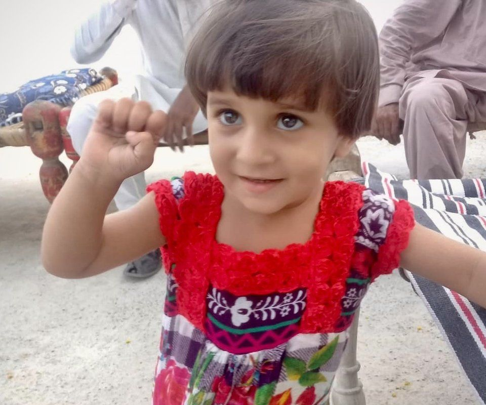 Zahra, pictured at about the age of five