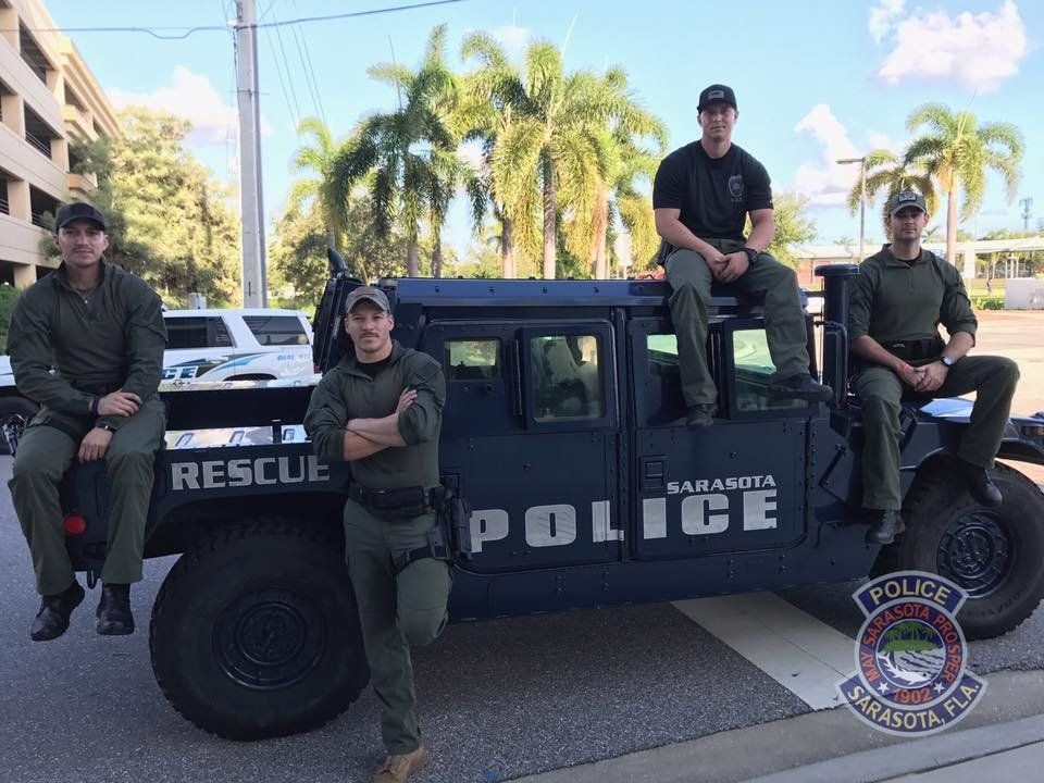 Photo shared on Facebook by Sarasota Police Department