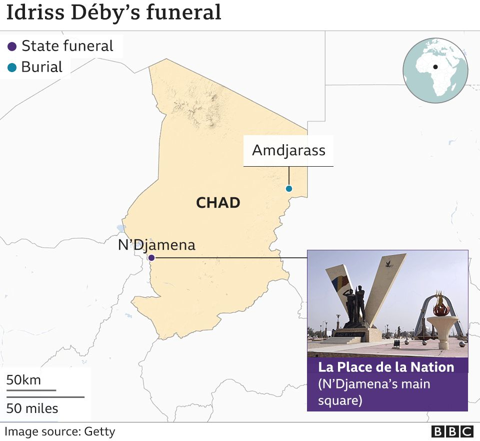 Idriss Déby: Thousands attend funeral of Chad president thumbnail