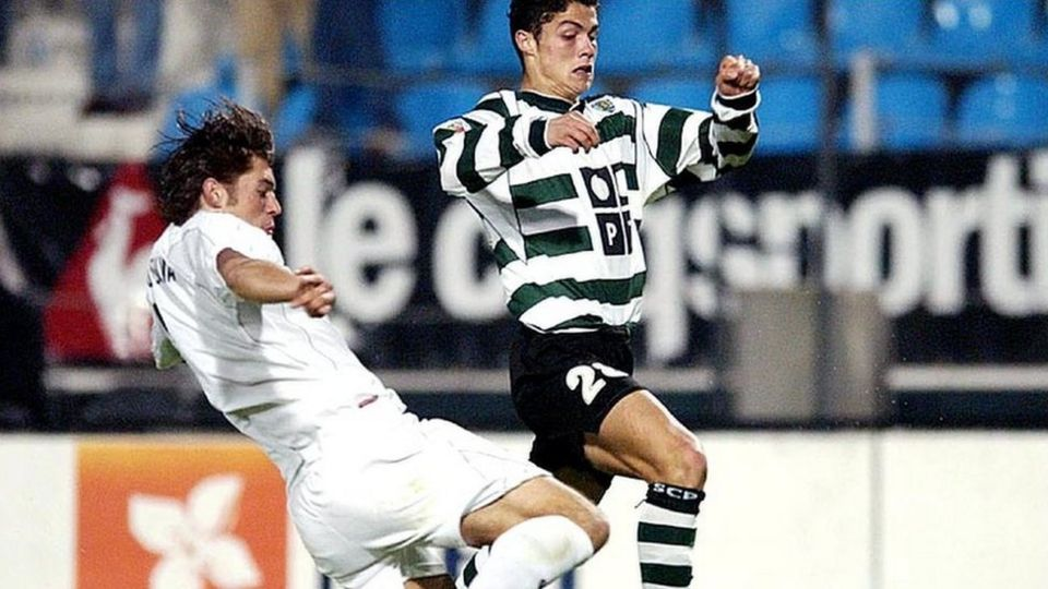 ronaldo playing for sporting lisbon