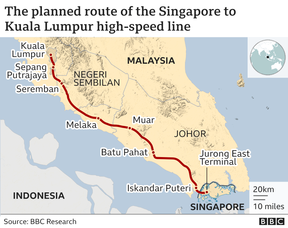 The planned route of the line