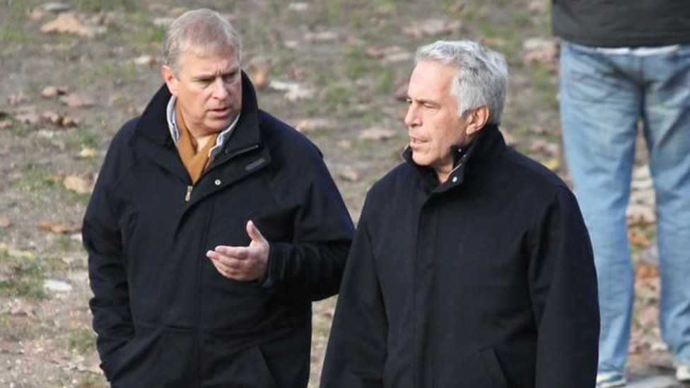 Prince Andrew, left, has been criticised for his association with Jeffrey Epstein