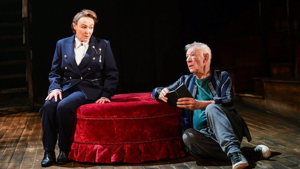Actress Frances Barber stars alongside Sir Ian McKellen in Hamlet at the Theatre Royal Windsor