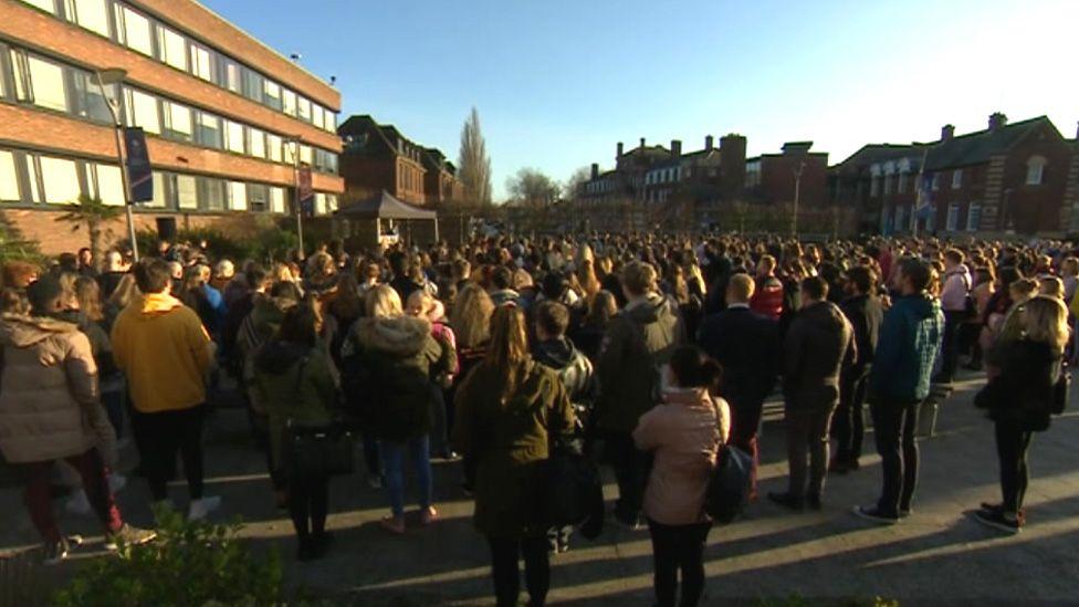 Student vigil at university