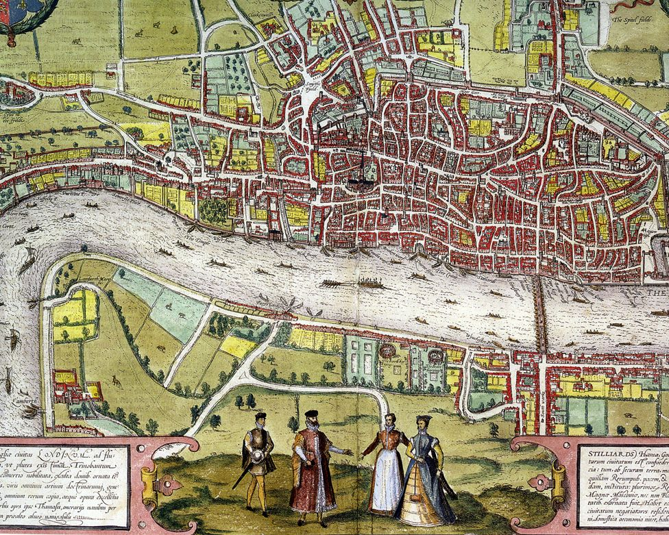 A map of Elizabethan London