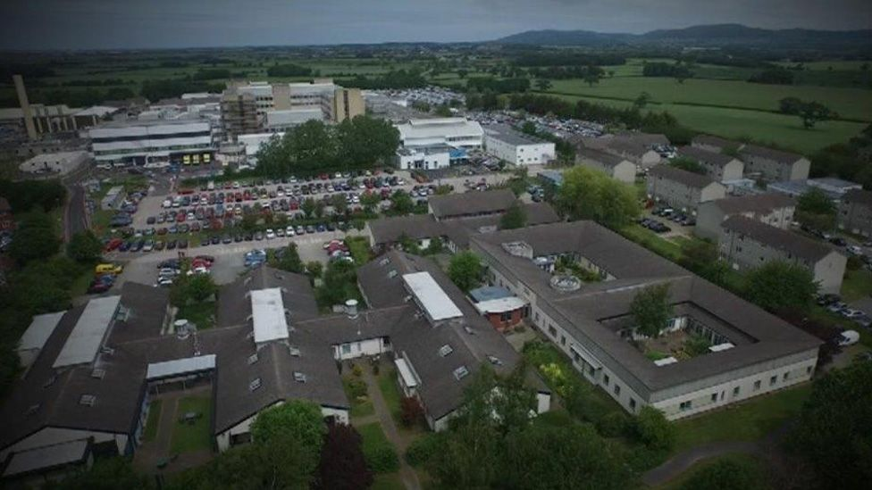 Tawel Fan, which remains closed, is on the Glan Clwyd Hospital site