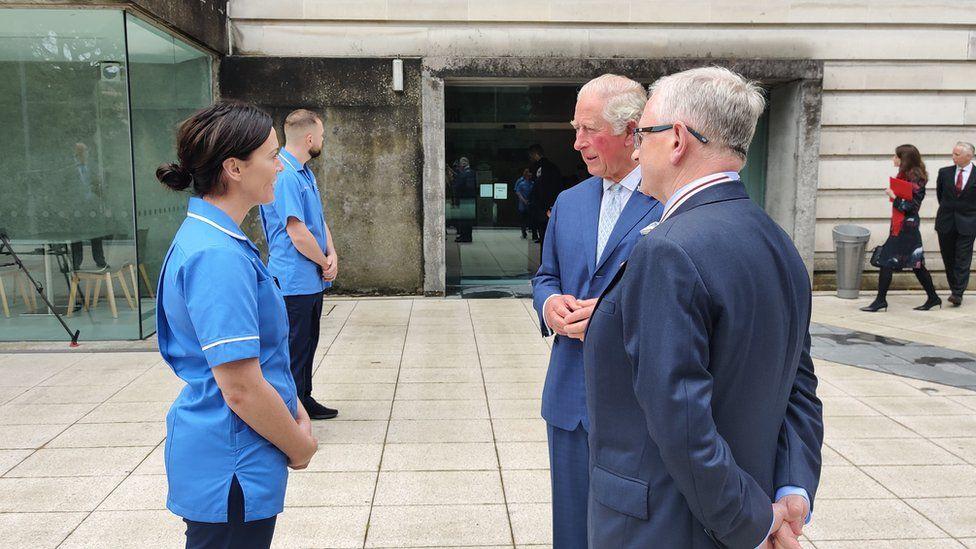 Prince Charles meeting medical staff