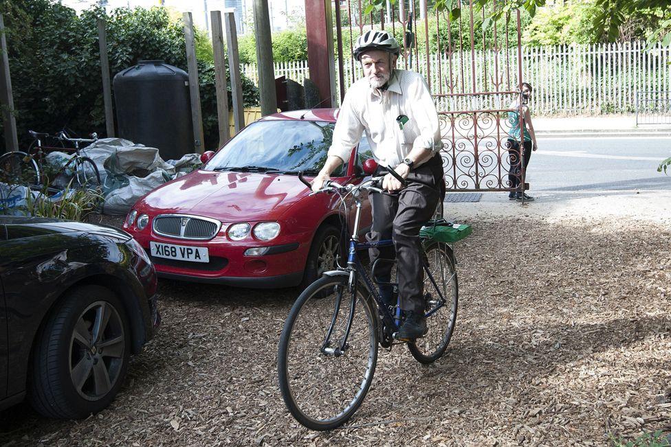Jeremy on a bike