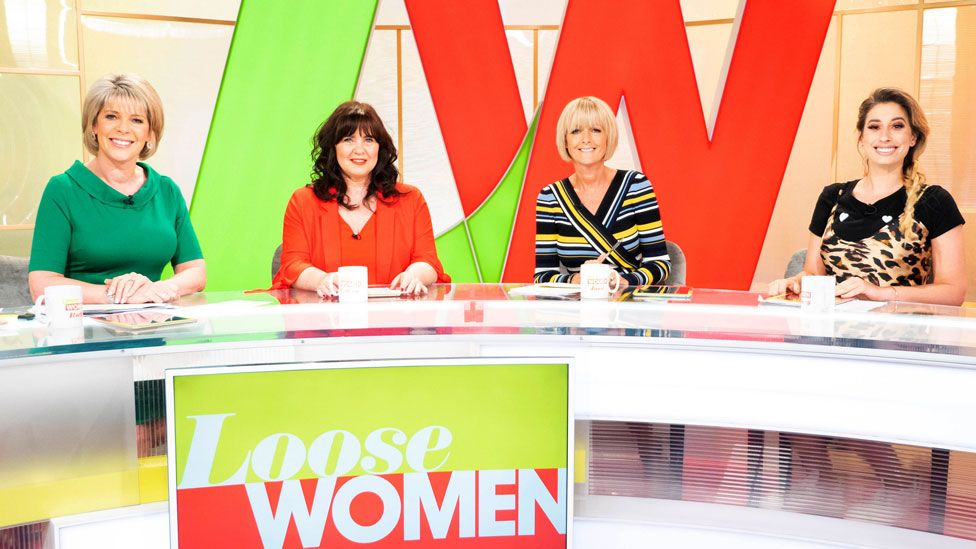 (l-r) Ruth Langsford, Coleen Nolan, Jane Moore and Stacey Solomon