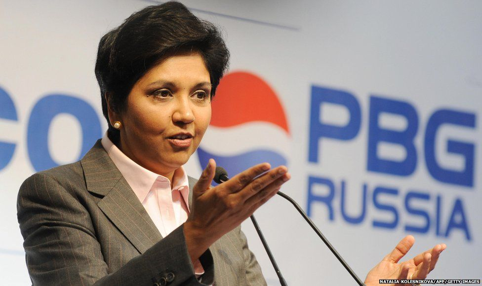 CEO of PepsiCo Indra Nooyi speaks at the official opening of a PepsiCo bottling plant not far from Moscow in Domodedovo on July 8, 2009