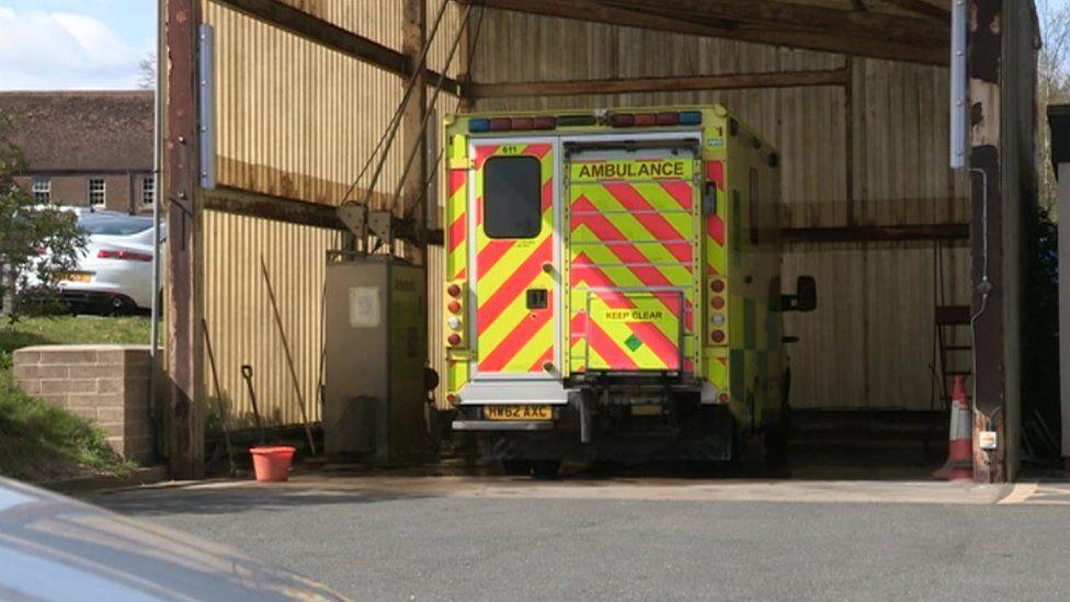 Ambulance on Isle of Wight