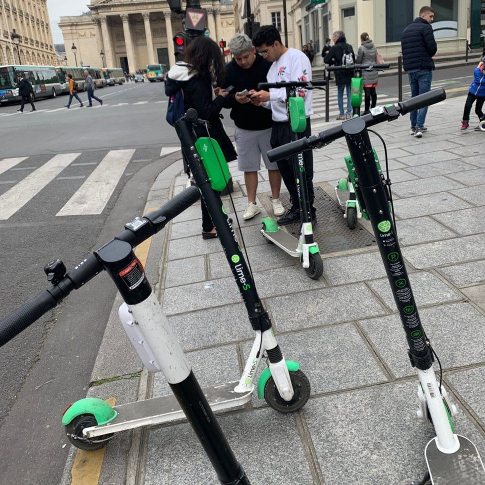 Scooters in Paris