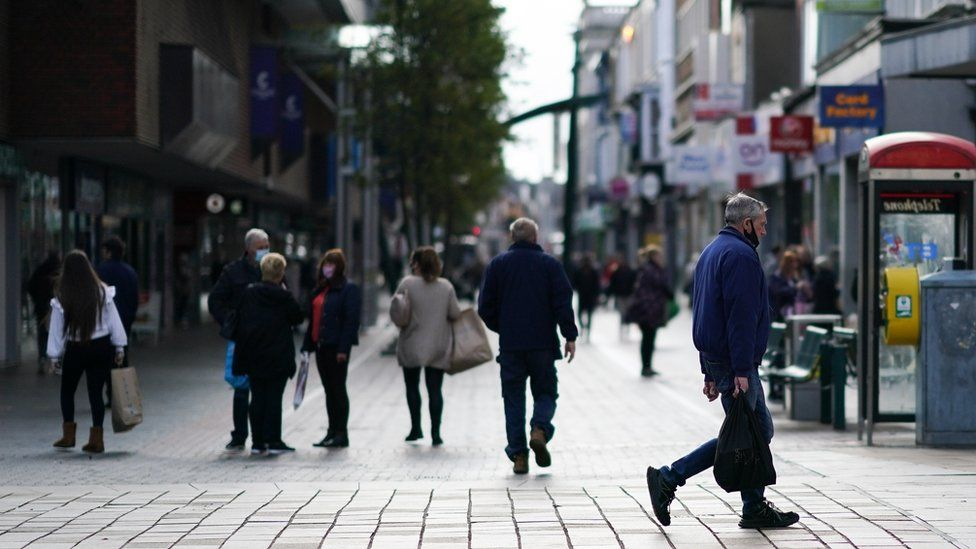 Shoppers in Middlesbrough town centre