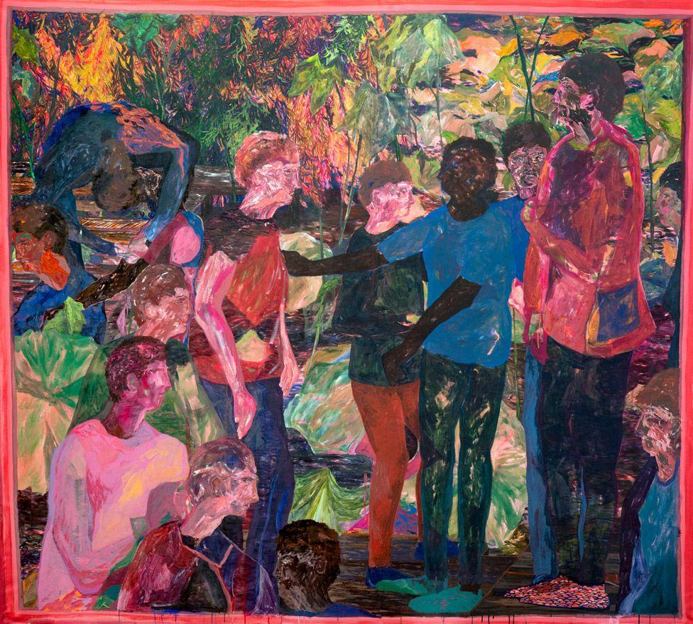 Kathryn Maple The Common, 2020, acrylic on canvas, 222 x 246 cm