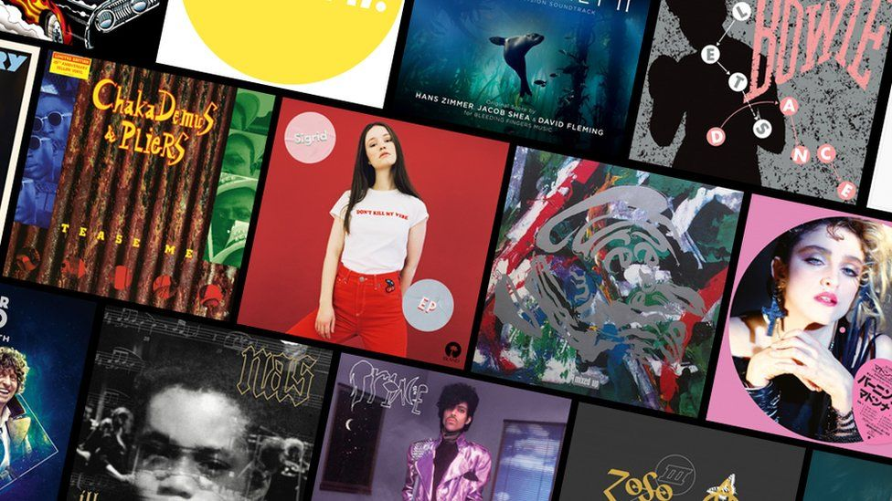 Montage of artwork for Record Store Day