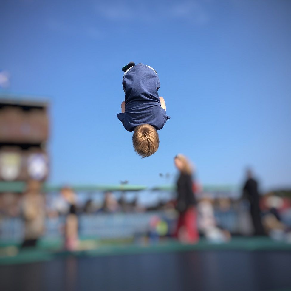 This is my son Campbell mid back flip at East Links Family Park during a day trip