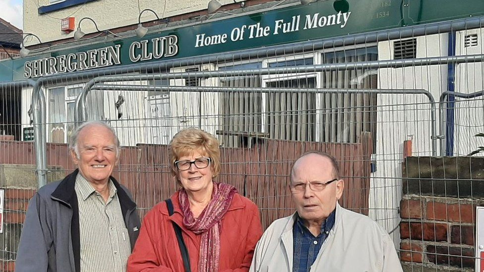 Shiregreen Working Men's Club - Ann Bentley (centre) Councillor Peter Price (left) and Peter Price (right)
