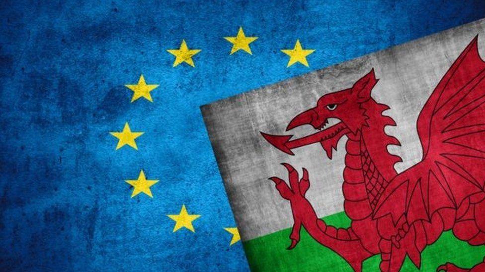 welsh and eu flag