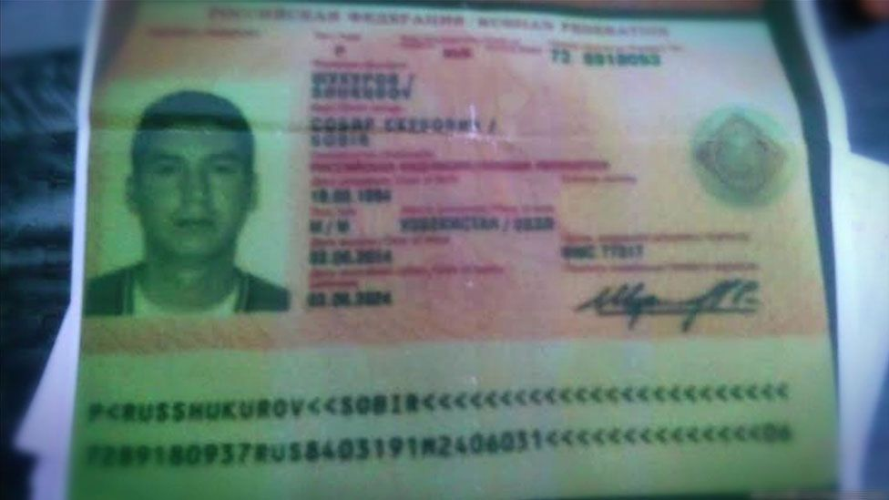 Sobir Shukurov's Russian passport