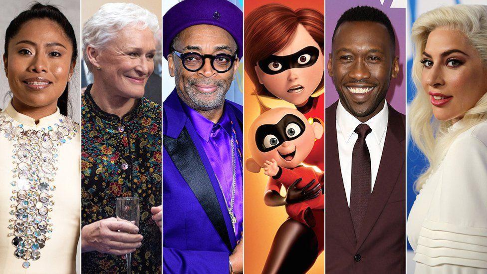 Yalitza Aparicio, Glenn Close, Spike Lee, The Incredibles, Mahershala Ali and Lady Gaga