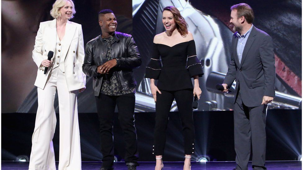 Ridley and Star Wars co-stars