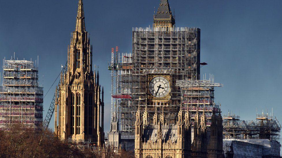 Scaffolding on Parliament