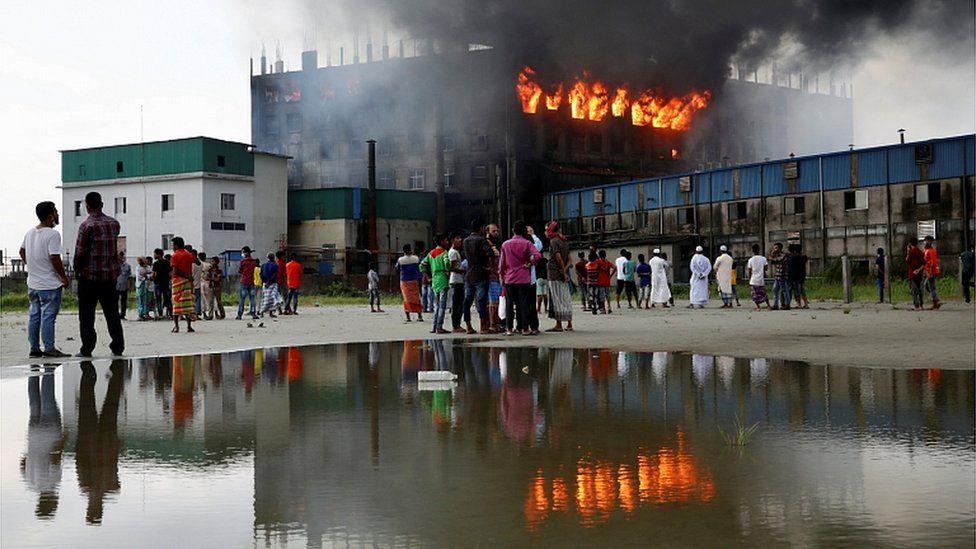 Bangladesh factory fire: Owner arrested after blaze kills 52 thumbnail