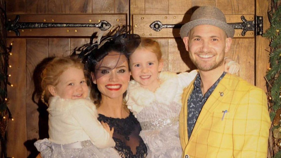 Holly Matthews, Ross Blair and their daughters