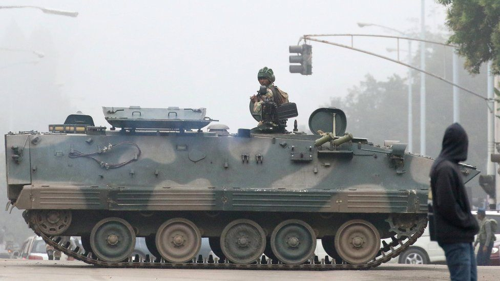 Soldiers in Harare, 15 November