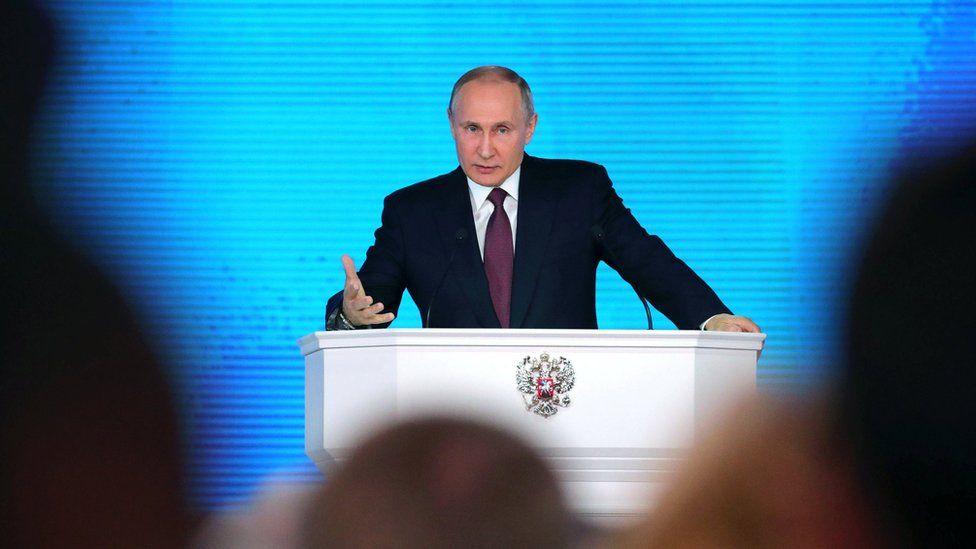 Putin makes his speech