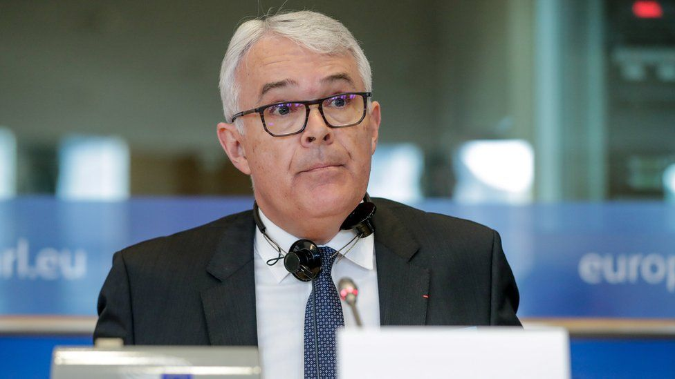 Candidate for European Chief Prosecutor, Frenchman, Jean-Francois Bohnert speaks during a hearing on 26 February