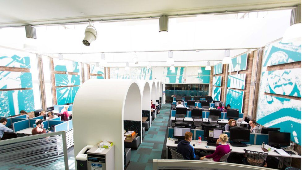 Study space, University of Exeter