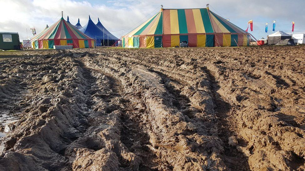 Mud on the Y Not Festival site