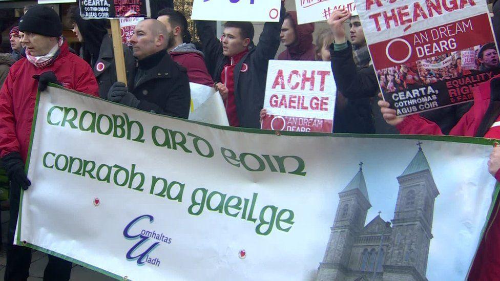 Irish language protest