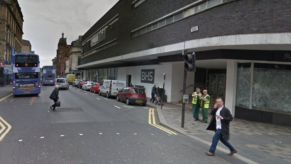 Sauchiehall Street, near its junction with Renfield Street