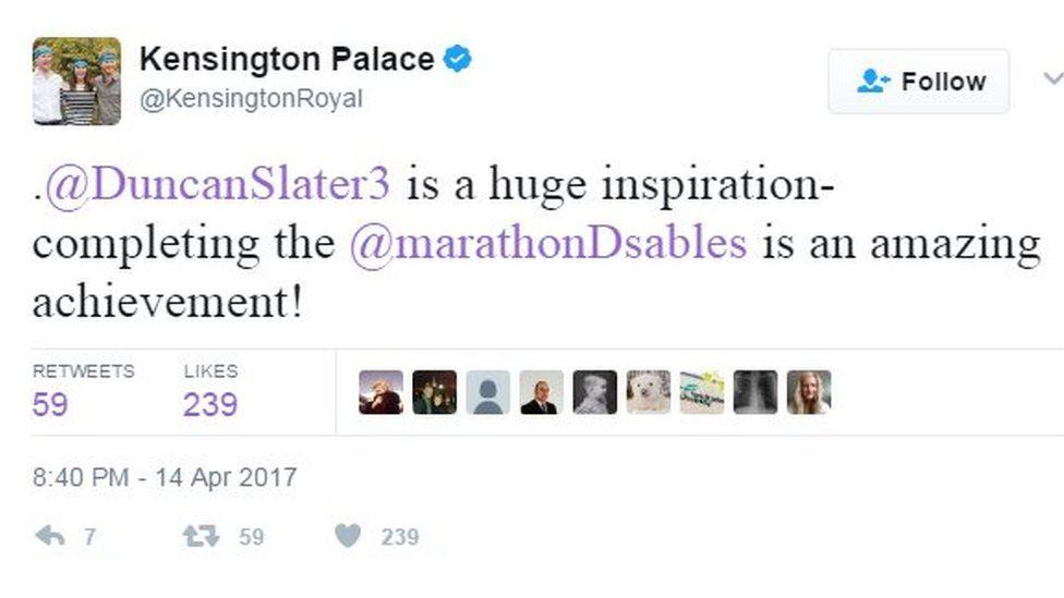 Kensington Palace Tweet