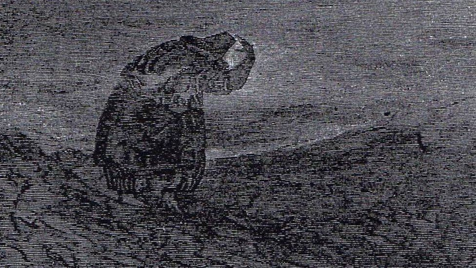 An illustration depicting a Welsh witch, also known as a Gwrach