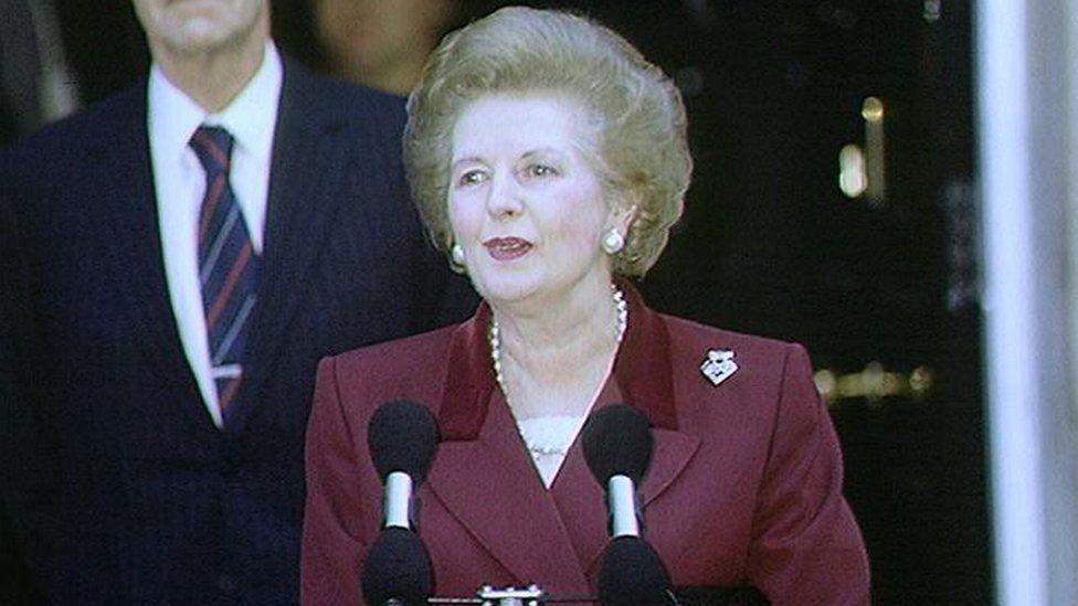 Margaret Thatcher makes her final speech outside Downing St