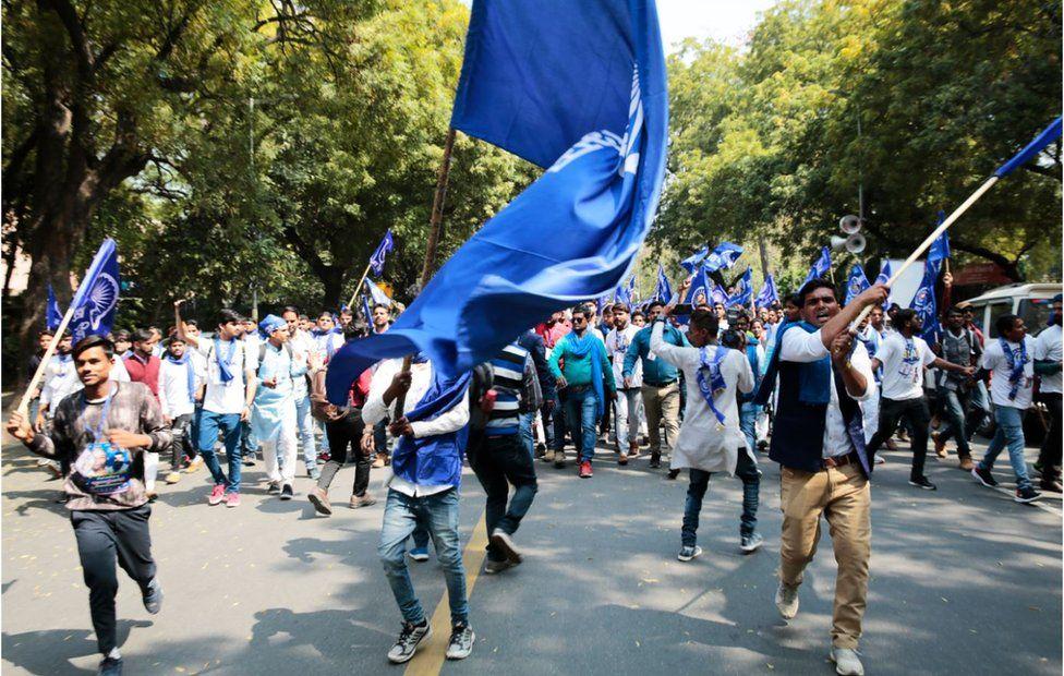 At a Chandra Shekhar rally in Delhi