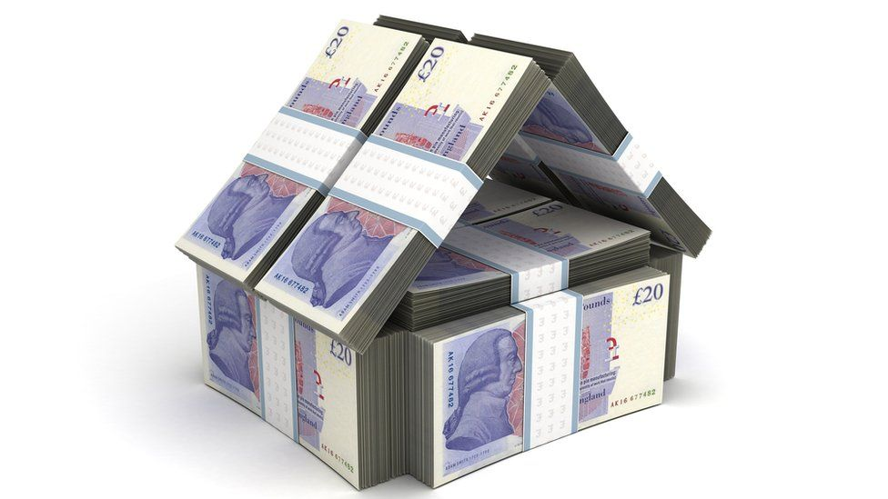 house made of £20 notes