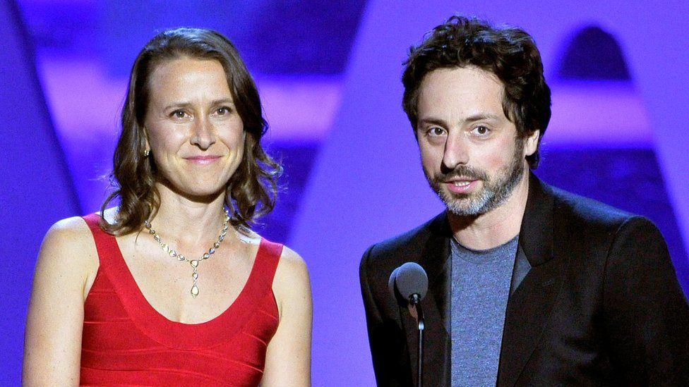 Anne Wojcicki with former husband Sergey Brin