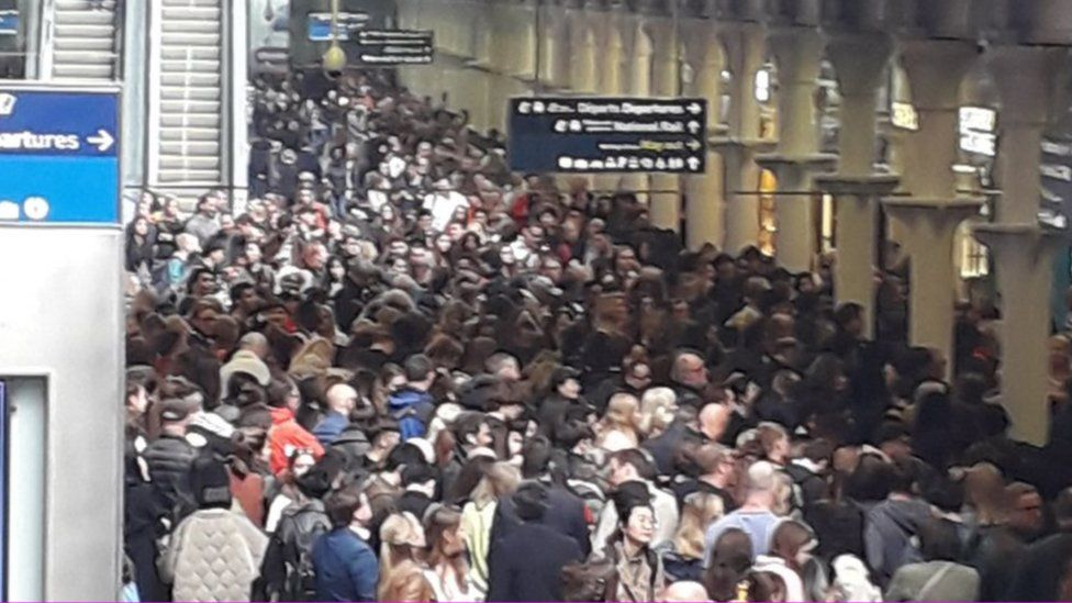 Passengers affected by the disruption caused by Maher