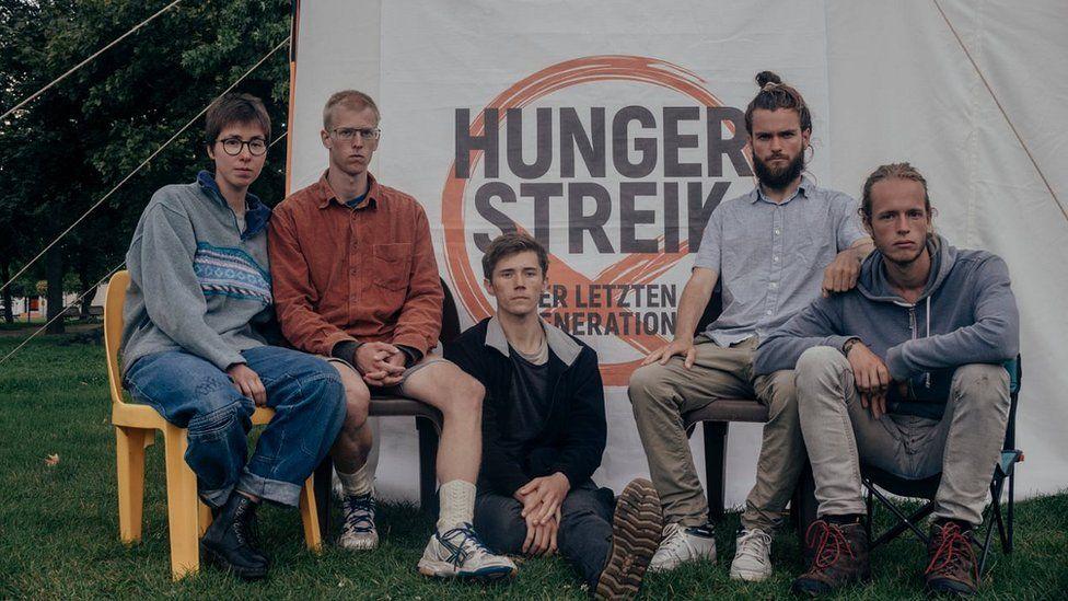 Hongerstakers vir klimaatbeleid in Berlyn, 2021