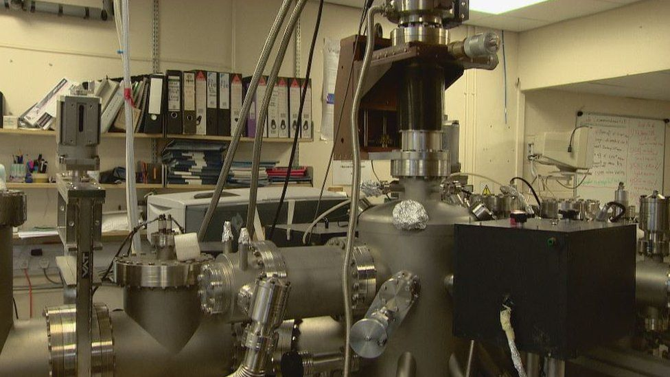 The lab at Heriot-Watt University