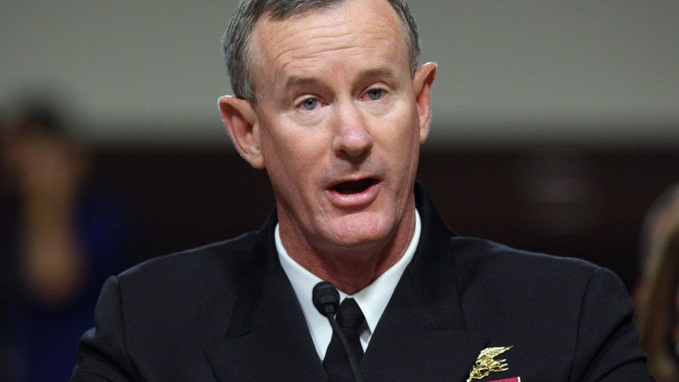 William McRaven, shown looking in the direction of the camera
