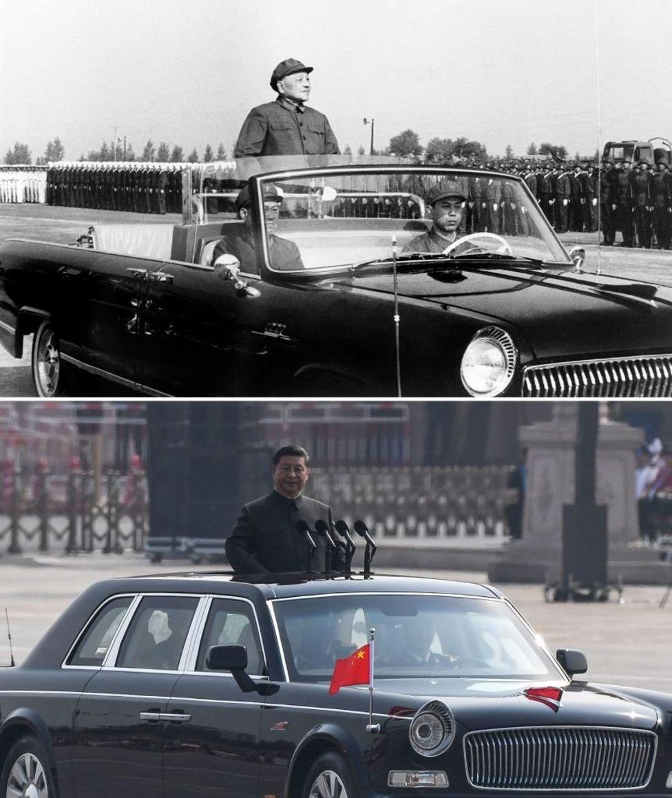 фото нинішній лідер КНР Сі Цзіньпін і Ден Сяопін (керівник КНР з 1976 по 1993 рік)